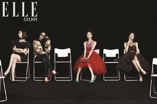 ファッションマガジン「ELLE」の「シェアハッピネス」キャンペーンに参加したパク・スジン(写真=ELLE)。