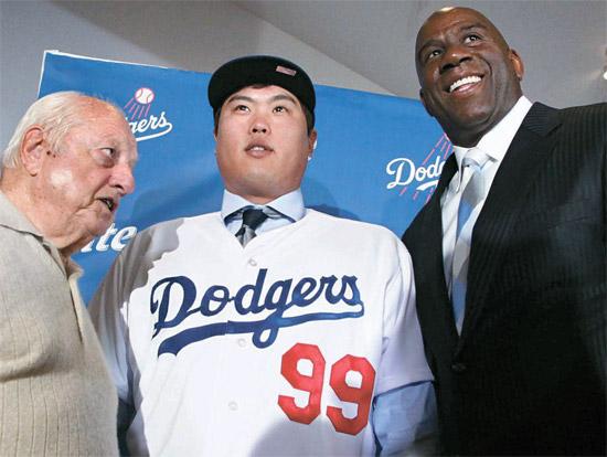 野球> 柳賢振、LAドジャースの公式入団式 | Joongang Ilbo | 中央日報
