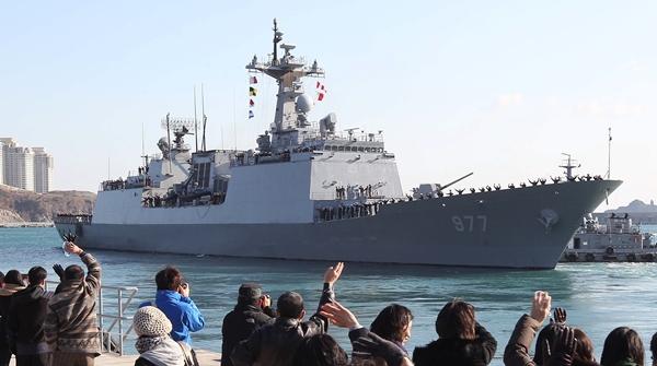 韓国海軍の駆逐艦「大祚栄」(写真=中央日報DB)