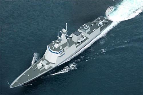 現代重工業が24日、フィリピン国防省から受注した2600トン級の護衛艦模型図(写真提供=現代重工業)