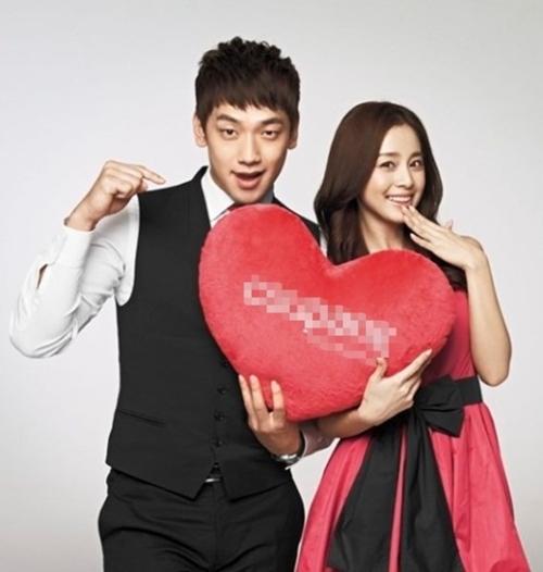 歌手Rain(左)と女優キム・テヒ(右)