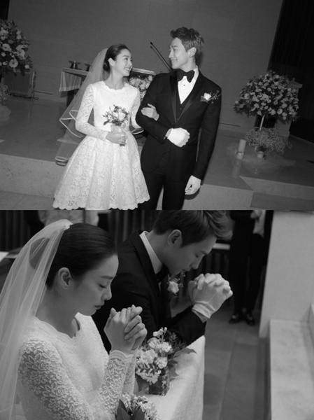 歌手Rainと女優キム・テヒの結婚式の様子