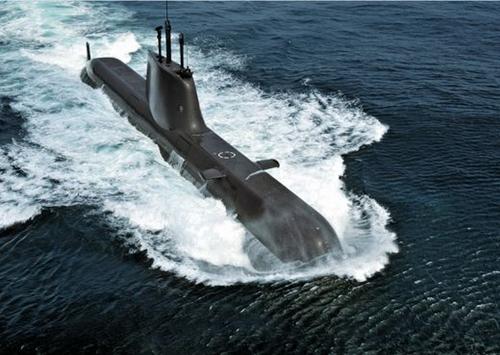 韓国海軍の214級(1800トン)潜水艦安重根艦が航海する姿。(写真=韓国海軍)
