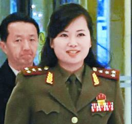 2015年12月に中国北京のホテルでJTBCが撮影した牡丹峰(モランボン)楽団の玄松月(ヒョン・ソンウォル)団長。公演は開始3時間前に突然中止になった。(中央フォト)
