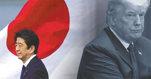 安倍首相(左)とトランプ大統領