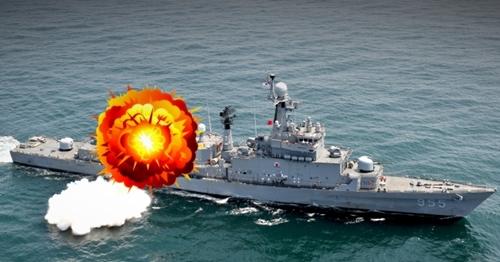 慶尚南道統営の海上で訓練中だった海軍護衛艦で事故が発生し、隊員1人が死亡した。(※この写真は記事内容とは直接関連ありません)(写真=中央フォト)