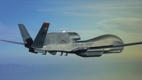 米ノースロップ・グラマン社の無人偵察機「RQ-4 グローバルホーク」。(写真提供=ノースロップ・グラマン)