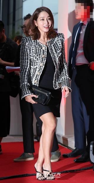 20日午後、ソウル江南区で開かれた「キャディラック・ハウス・ソウル」のオープニングパーティーに登場した女優イ・ミンジョン