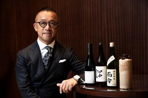 日本酒流通会社「いまでや」の小倉秀一代表。