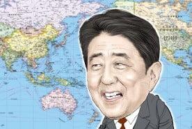 安倍氏の実利外交