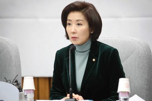 自由韓国党の羅卿ウォン院内代表