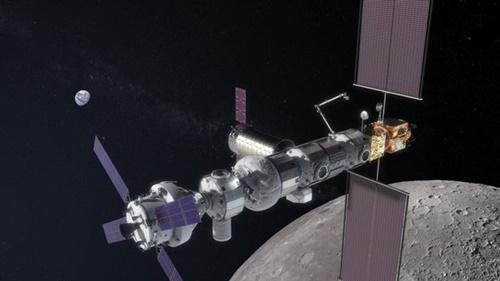 昨年9月にNASAが公開した月軌道プラットホームゲートウェイの鳥瞰図(写真=NASA)