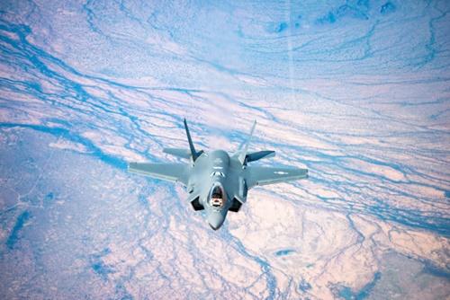 米空軍ルーク基地から韓国に出発した「F-35A戦闘機」(防衛事業庁提供)