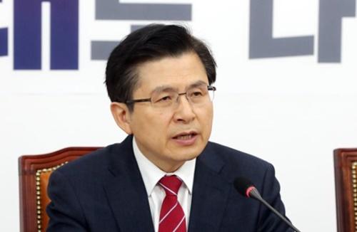 自由韓国党の黄教安代表
