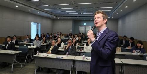 全国経済人連合会(全経連)は5月8日、全経連会館カンファレンスセンターで「在韓欧州企業および欧州現地企業就職説明会」を開催した。[中央フォト]
