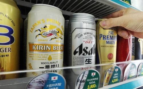 コンビニエンスストアの日本ビール。(写真=中央日報)