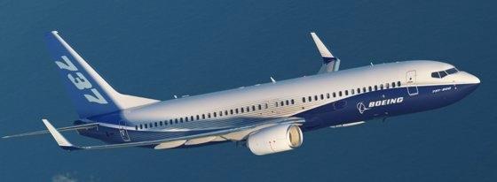 胴体で亀裂が確認されたボーイング社のB737NG型。ボーイングが開発した次世代小型航空機だ。[写真 ボーイング]