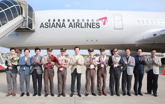 エアバスA350型の9号機を導入したアシアナ航空。[写真 アシアナ航空]