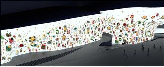 ソウル市とソウルデザイン財団が今年初めて公開する冬の光の祭り「ソウルライト」が20日午後6時、DDPサルリムト1階の市民ラウンジで初公開される。[写真 ソウル市]