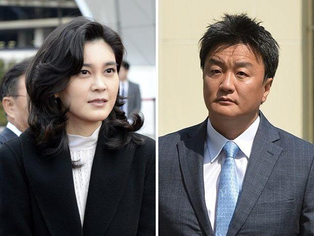 5年3カ月の訴訟の末、離婚が法的に確定した李富真氏(左)と任佑宰氏(右)