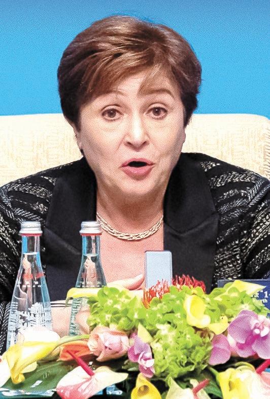 クリスタリナ・ゲオルギエバIMF総裁。