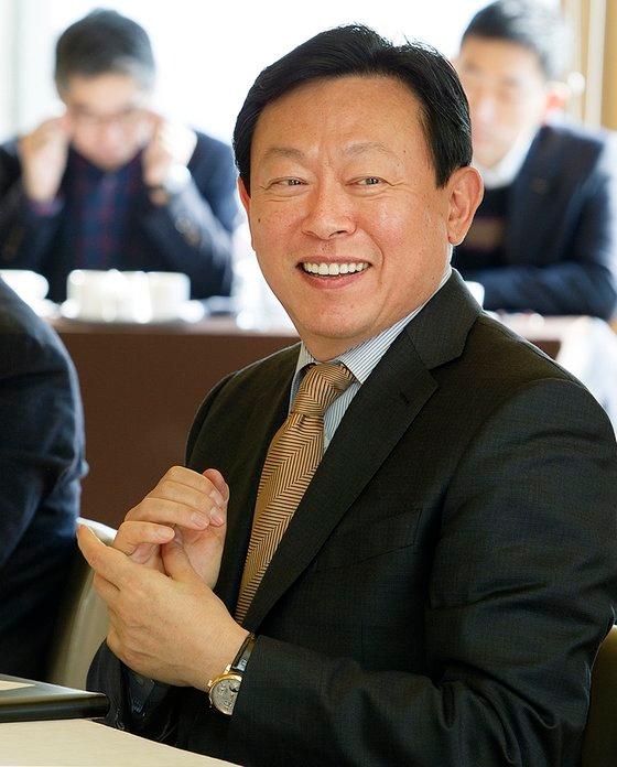 辛東彬ロッテグループ会長。[写真 ロッテグループ]