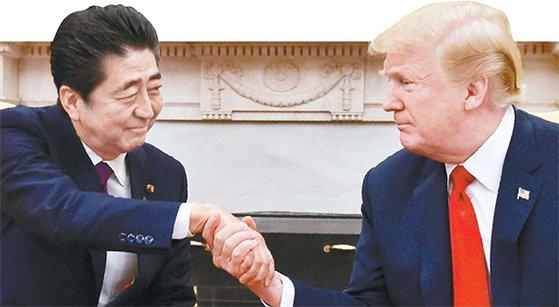 トランプ米大統領と日本の安倍晋三首相