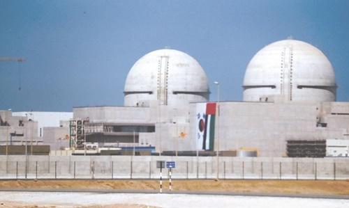 アラブ首長国連邦に韓国が建設中のバラカ原発。[中央フォト]