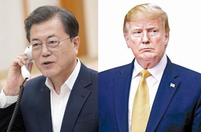 文在寅(ムン・ジェイン)大統領とトランプ米大統領