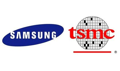 サムスン電子(左)と台湾TSMC[中央フォト]