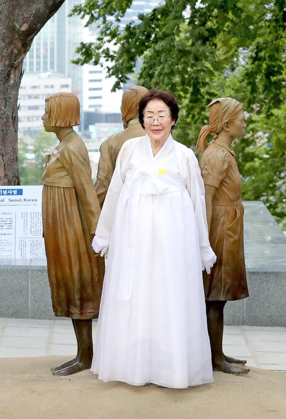 旧日本軍慰安婦被害者の李容洙(イ・ヨンス)さん