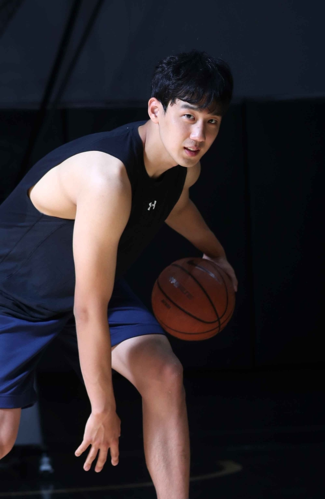 韓国選手で初めて日本プロバスケットBリーグに進出したヤン・ジェミン。 キム・サンソン記者