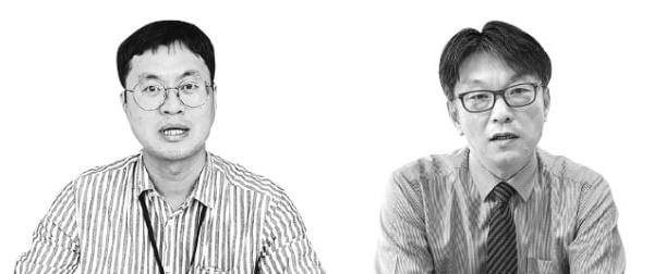 ケムイーのキム・セフン首席研究委員(写真左)、ジーオーエレメントのキム・デヒョン副社長
