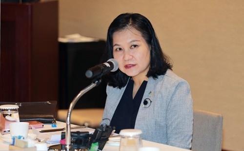 韓国産業通商資源部の兪明希(ユ・ミョンヒ)通商交渉本部長