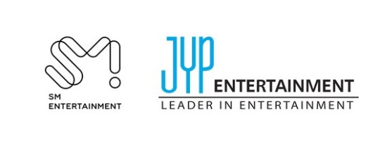 SMエンターテインメントとJYPエンターテインメントのロゴ