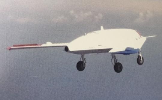 韓国初ステルス機「カオリ-X」の飛行場面[写真=国防科学研究所]