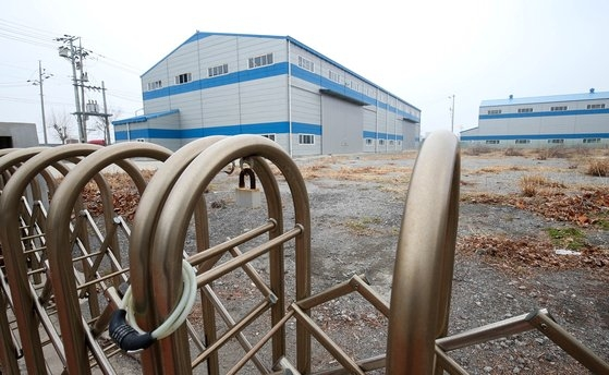 閉鎖された韓国GM群山(クンサン)工場。