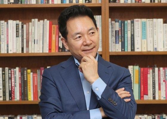 世界と北東アジア平和フォーラムの張誠ミン理事長。中央フォト