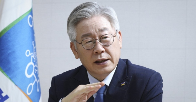李在明京畿道知事。[中央フォト]