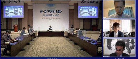 韓日ジャーナリストは8日、韓国言論振興財団と世宗研究所日本研究センターが開催した「日韓言論人画像対話」で、韓日関係が日本の首相交代でも改善するのは難しいだろうと見通した。[写真 韓国言論振興財団]