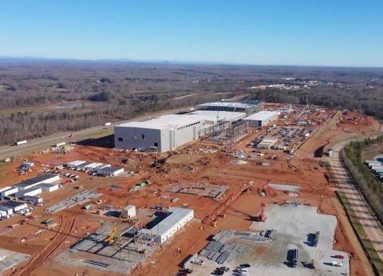 ジョージア州に建設中のSKバッテリー工場。[SKイノベーション]