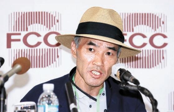 北朝鮮の射殺によって亡くなった公務員イさんの兄であるイ・レジンさんが29日午後、記者会見を開いている。キム・サンソン記者
