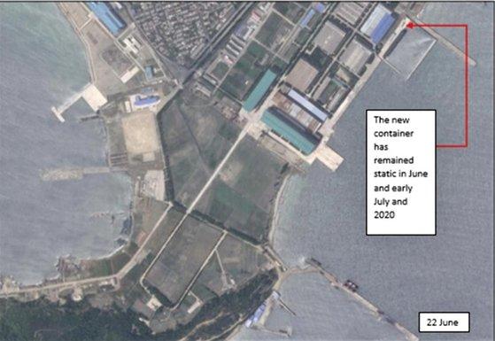北朝鮮の新浦(シンポ)造船所で、新浦級実験用潜水艦発射弾道ミサイル(SLBM)潜水艦のカバー付近に、北極星1号や北極星3号のSLBMミサイルが十分に入る大きさのコンテナ(長さ16-17メートル、幅2.5メートル)が確認された。 [国連対北朝鮮制裁パネル報告書]