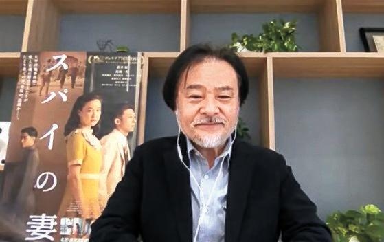 26日、釜山(プサン)映画祭に招待された黒沢清監督のオンライン懇談会の様子。[写真 釜山国際映画祭]