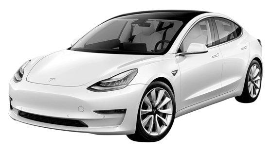テスラの普及型電気車「モデル3」[写真 テスラ]