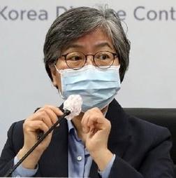 中央防疫対策本部の鄭銀敬(チョン・ウンギョン)本部長