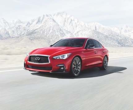 日産の高級車ブランド、インフィニティの「Q50」。日産は昨年韓国市場から撤退した。[写真 韓国日産]