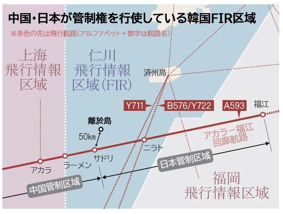 中国・日本が管制権を行使する韓国飛行情報区域[グラフィック キム・ヨンオク記者]