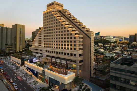 「バーニングサン」事態で有名になったソウル江南区(カンナムグ)ルメリディアンホテルの全景。 [ルメリディアンホテル ホームページ]