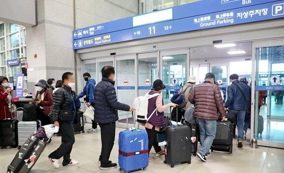 仁川国際空港。 ビョン・ソング記者